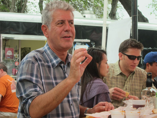 Anthony Bourdain tells <em>Food & Wine</em> about the final season of <em>No Reservations</em>. Photo courtesy of Travel Channel.