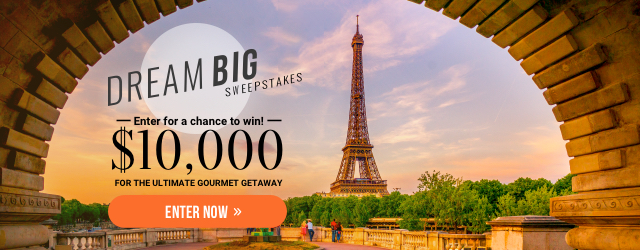 Dream Big Sweepstakes: Rules | Food & Wine