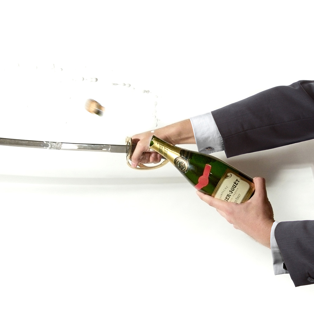 Please Don't Saber Champagne Bottles with Your iPhone