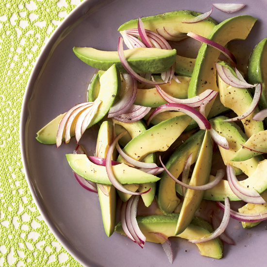 FWX EASY AVOCADO RECIPES AVOCADO AND ONION SALAD