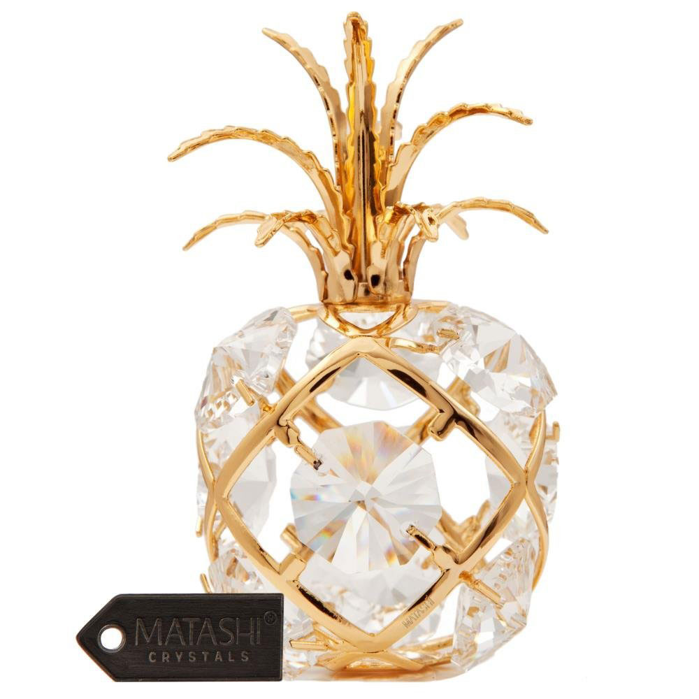 Gold-Plated Mini Pineapple Ornament, $31