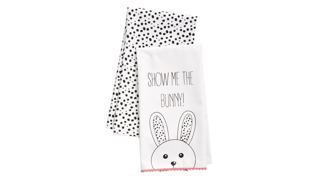 <p><b>Show Me the Bunny Dish Towels</b></p>