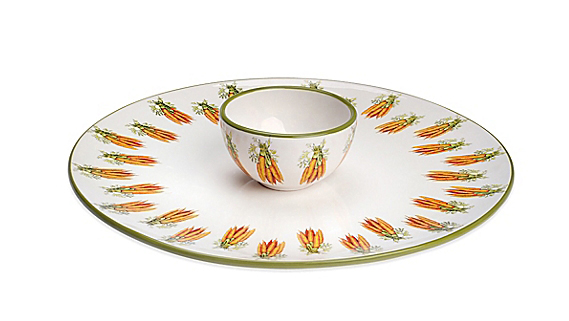 <p><b>Carrot Crudité Server and Bowl Set</b></p>