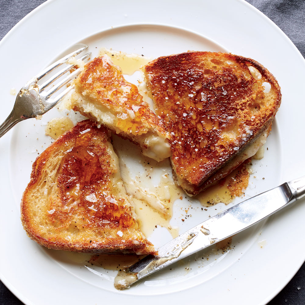 Knife-and-Fork Grilled Cheese with Honey