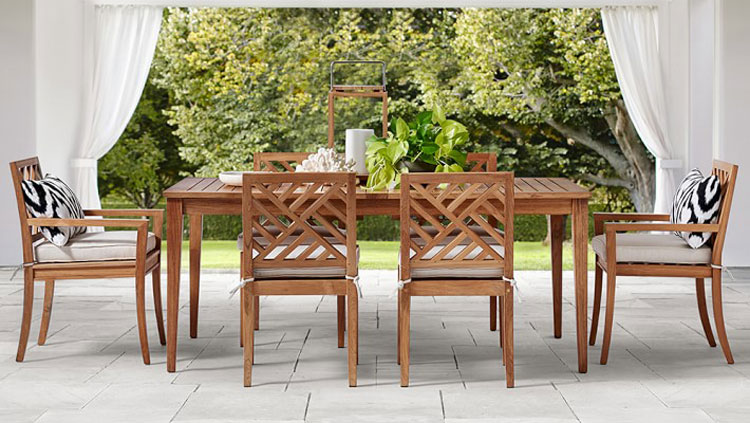 Williams Sonoma Garden Teak Dining Table