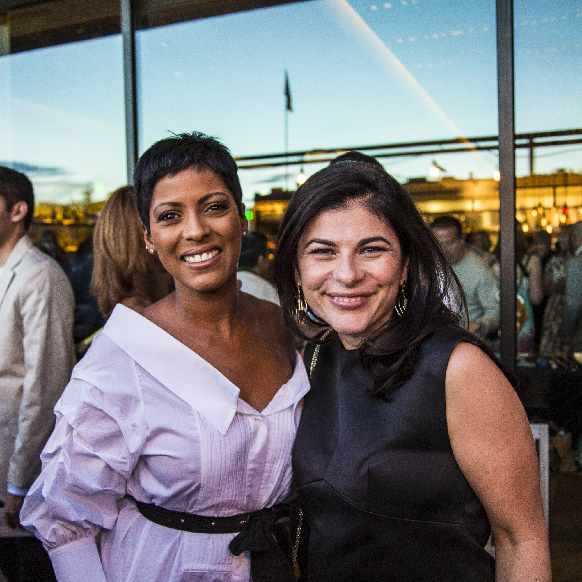 Tamron Hall and mkgalleryamp; Wine EIC Nilou Motamed attend the welcome reception at the mkgalleryamp; Wine Classic in Aspen.