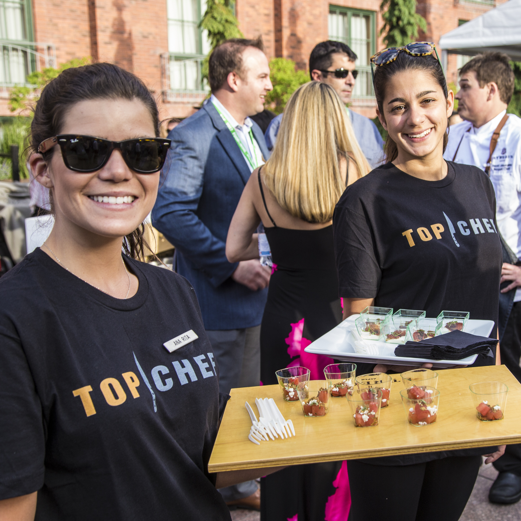 Top Chef small bites at the Food & Wine Classic in Aspen welcome reception