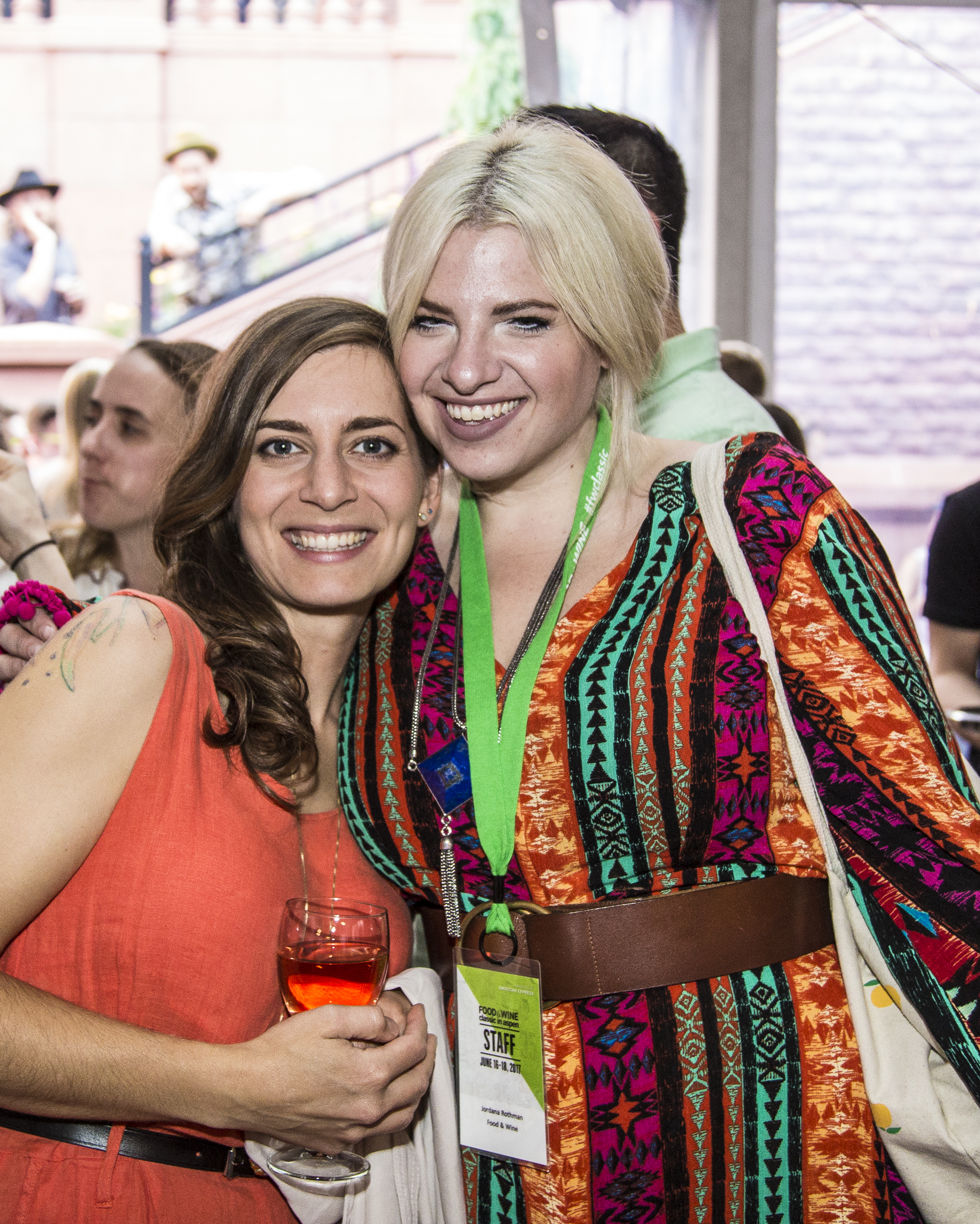 Best New Chef 2017 Sara Kramer of Kismet with Restaurant Editor Jordana Rothman at the Food & Wine Classic in Aspen welcome reception