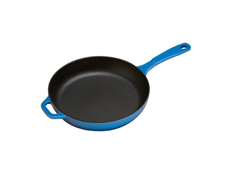 blue round skillet from lodge on amazon