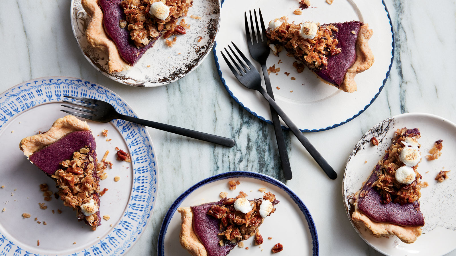 Purple Sweet Potato Pie with Coconut and Five-Spice