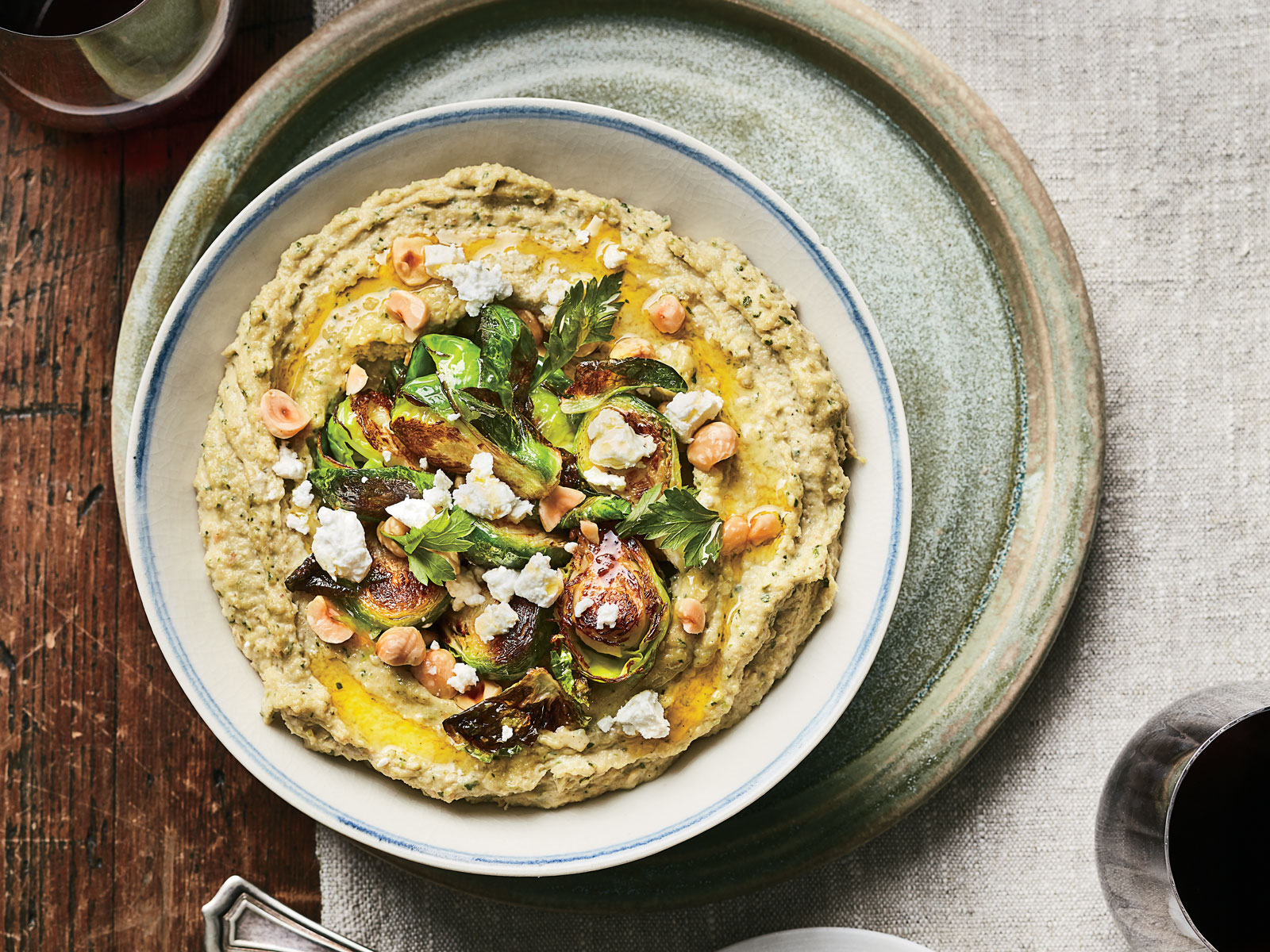 Brussels Sprouts Baba Ghanoush