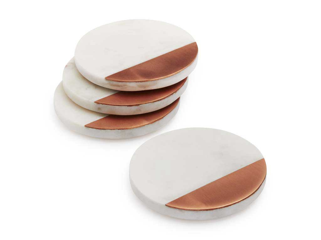 White-Marble-and-Rose-Gold-Coasters