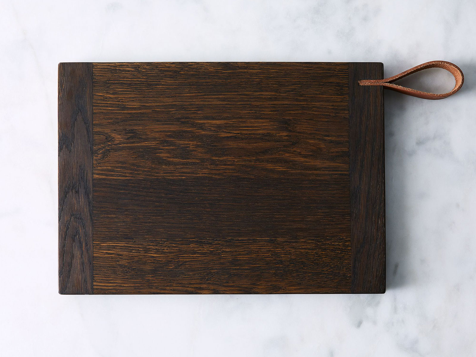 Oak Cutting Board with Leather Strap