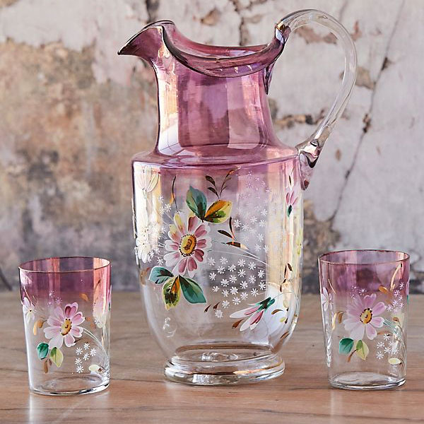 Pitcher and Hand Tumbler Trio