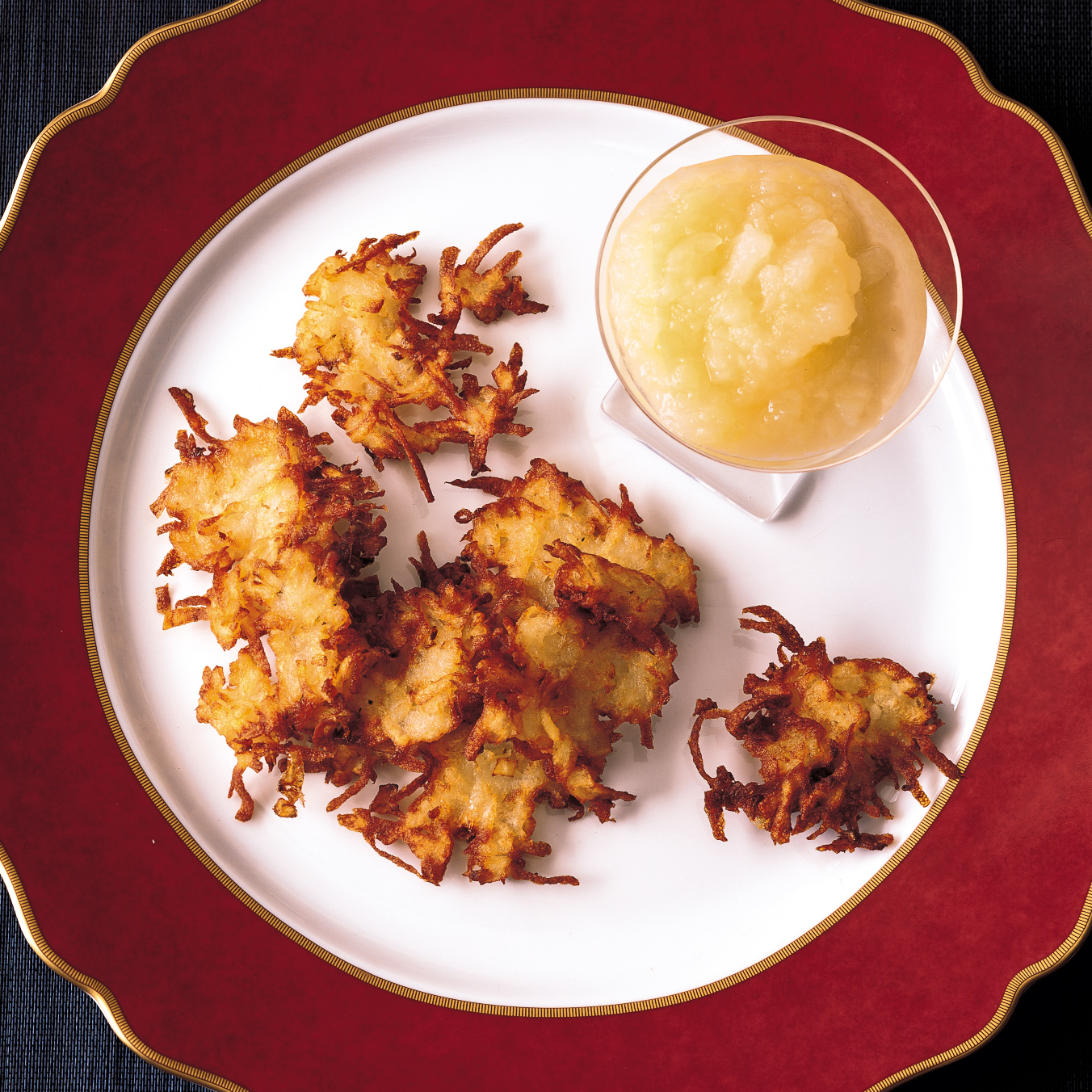 Potato-Apple Latkes Recipe - Eric Bromberg, Bruce Bromberg ...