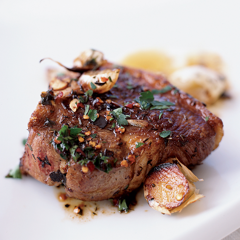 Lamb Chops Sizzled With Garlic Recipe