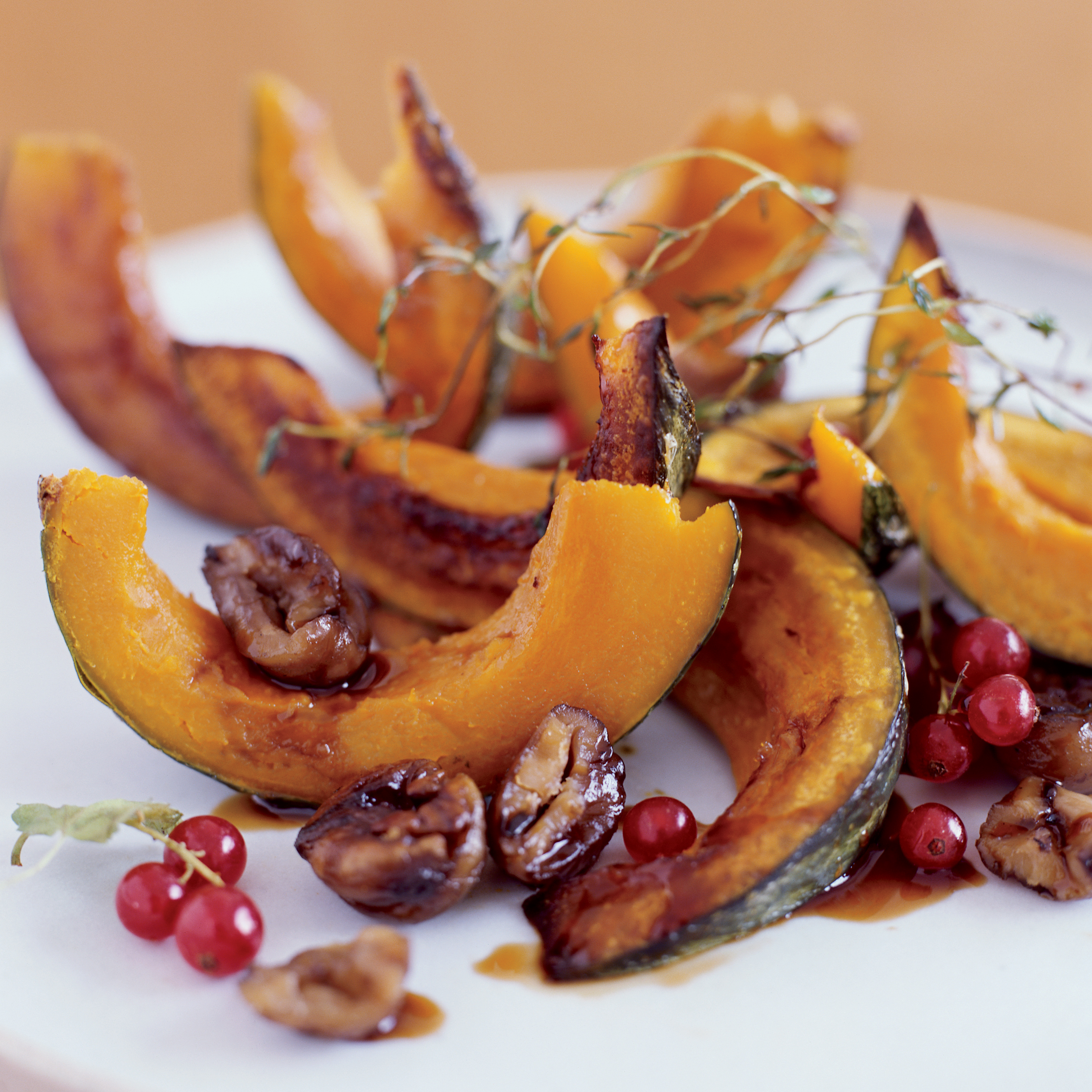Roasted Squash With Chestnuts And Pomegranate Recipe