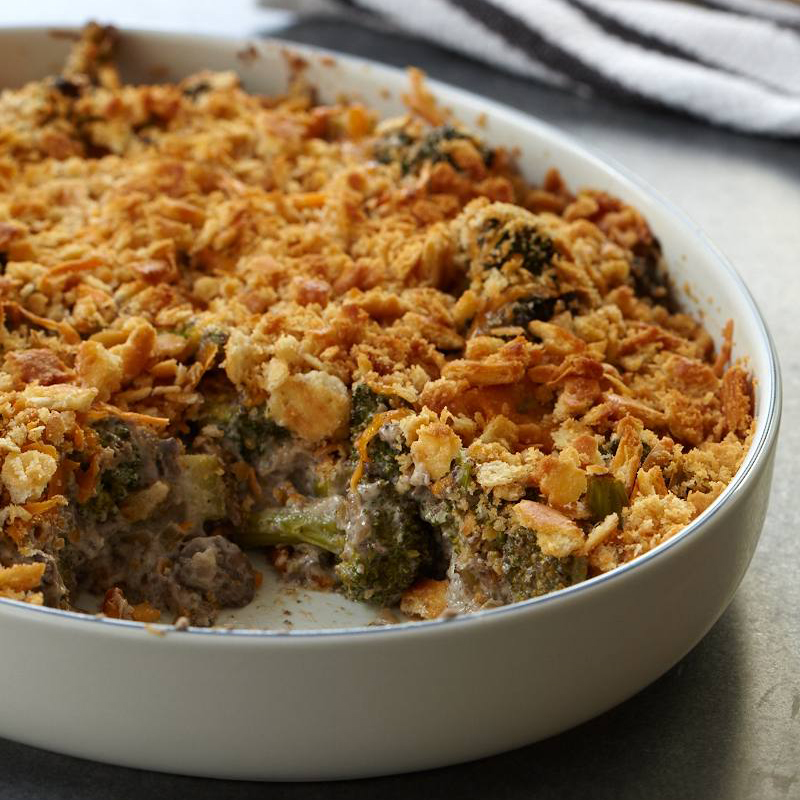 Broccoli and Wild Mushroom Casserole Recipe - Robert Rausch | Food ...