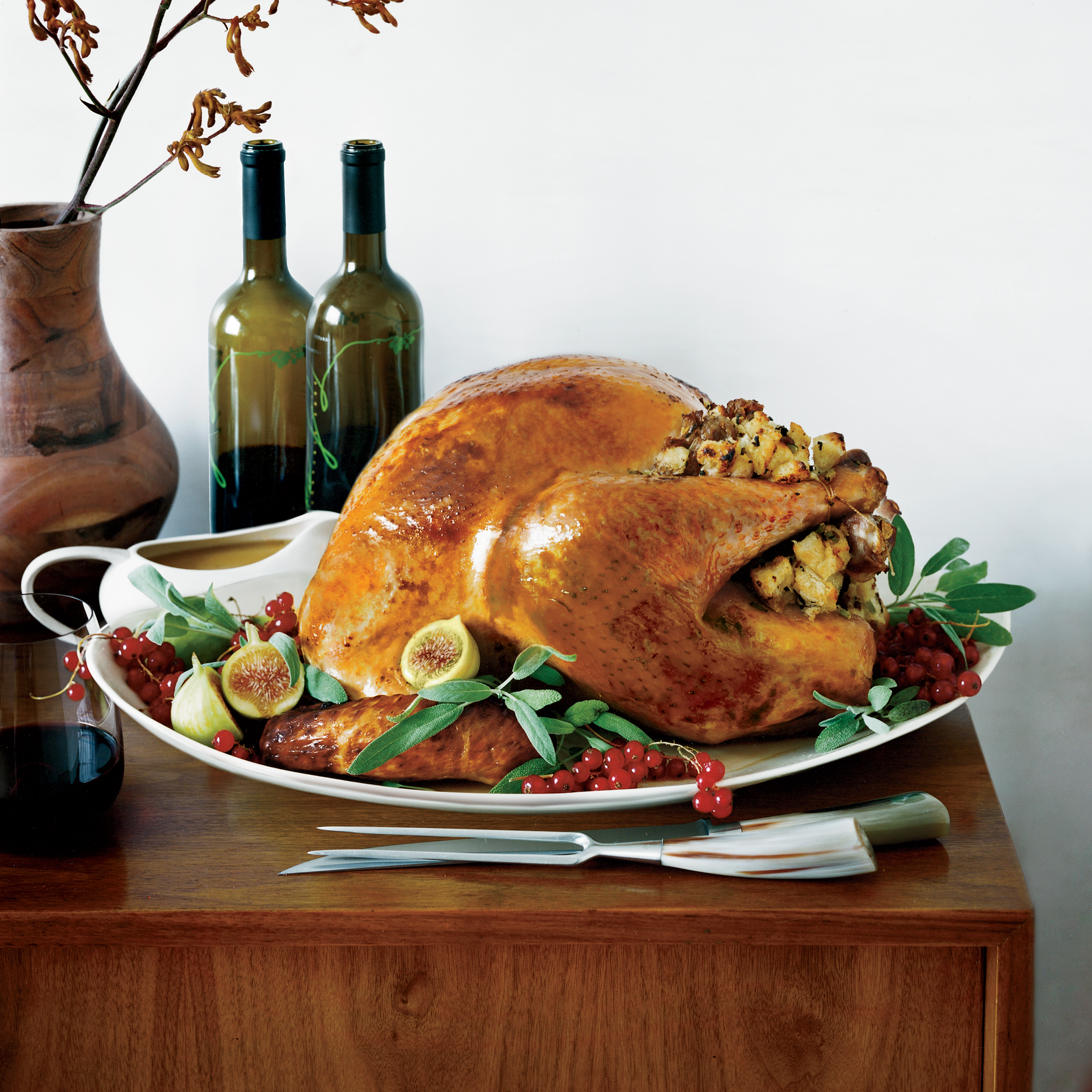 Roasted Turkey with Italian Sausage Stuffing Recipe - Grace Parisi ...