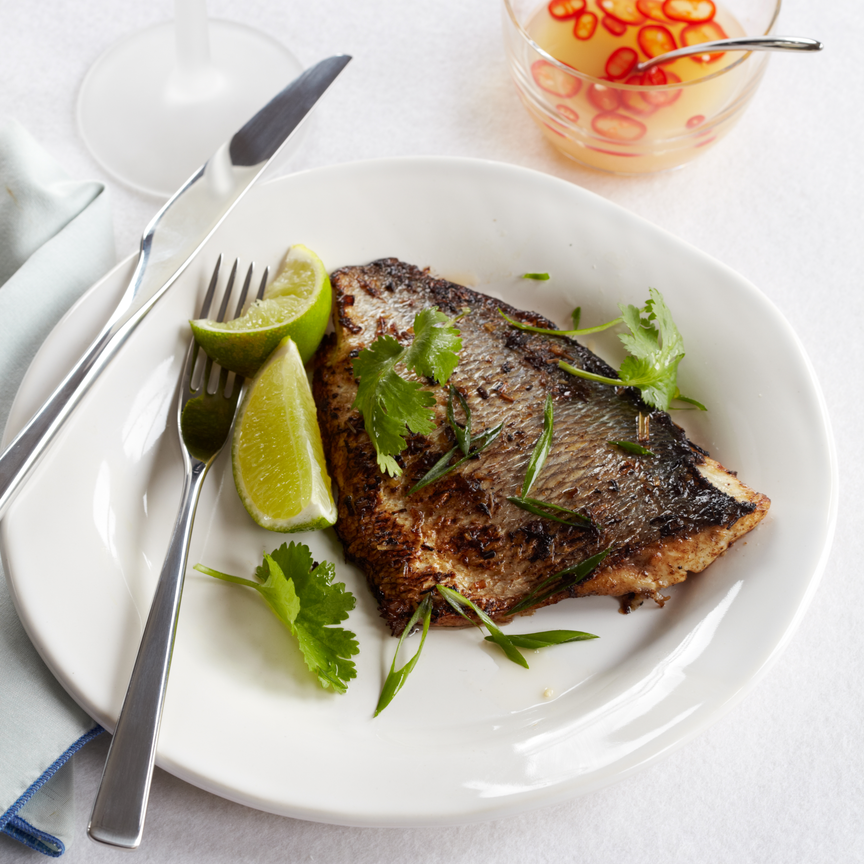 Lemongrass marinated pompano with dipping sauce recipe for Pompano fish recipes