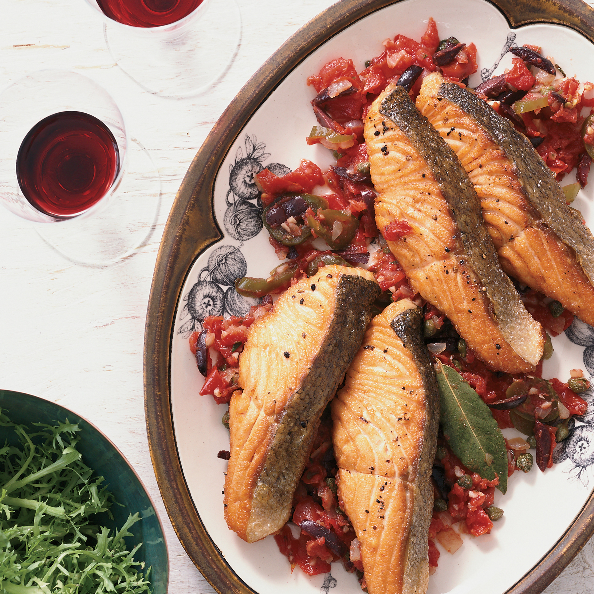 Salmon With Capers And Tomatoes