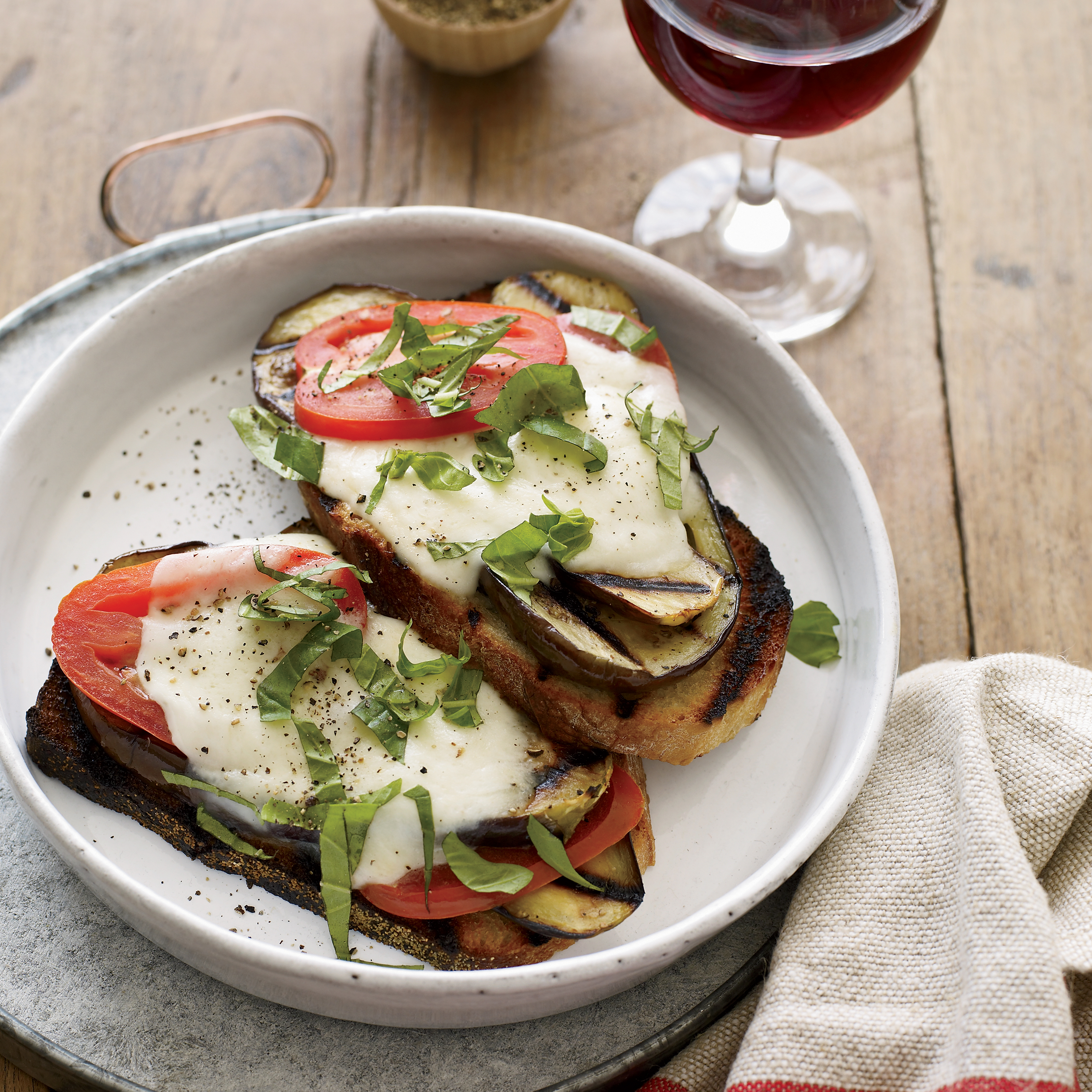 Open-Face Grilled Eggplant Sandwiches Recipe - Kristin Donnelly | Food ...