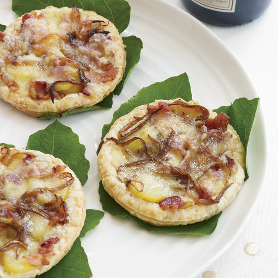 Cheese Tarts with Bacon and Fingerling Potatoes