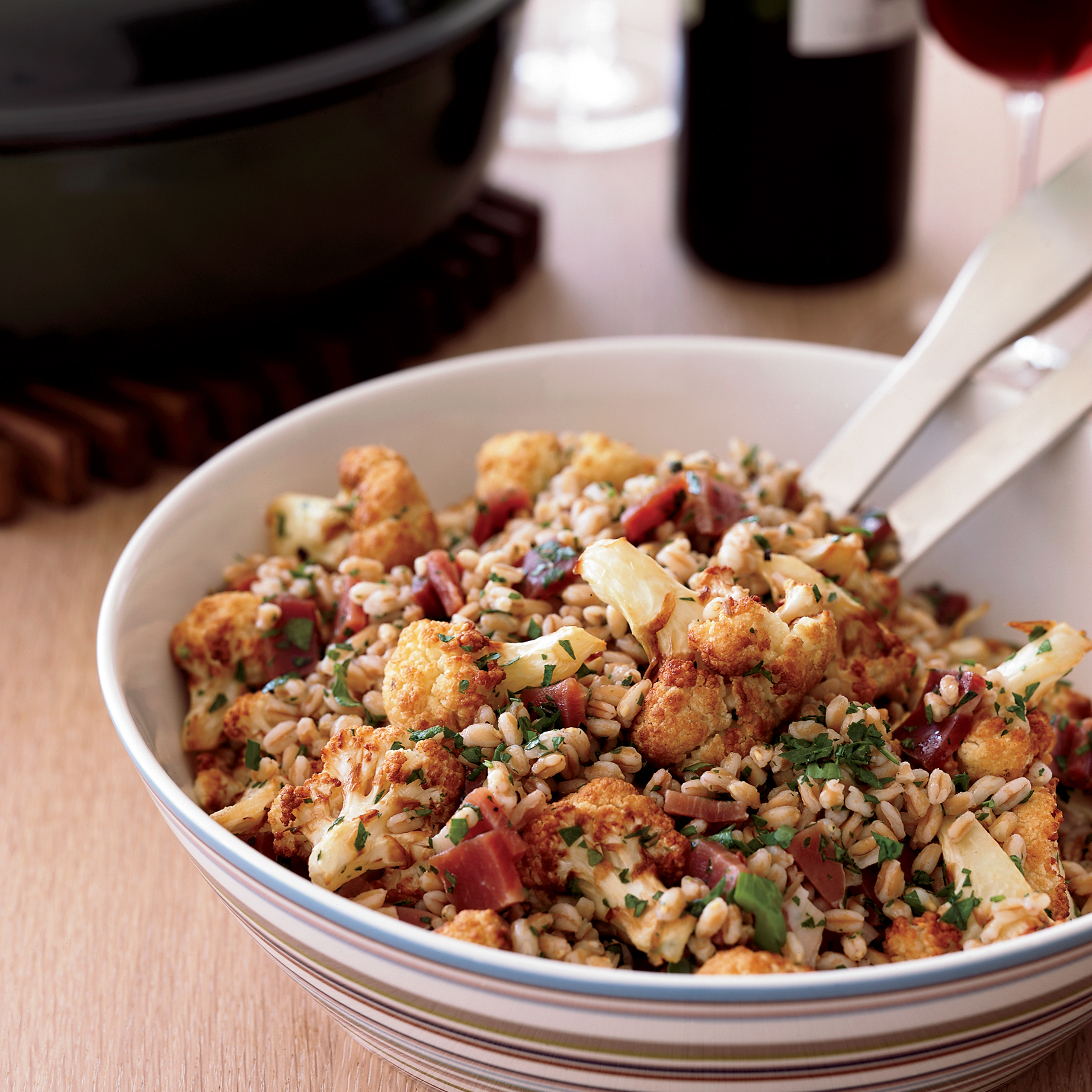 Farro Salad with Fried Cauliflower and Prosciutto Recipe ...