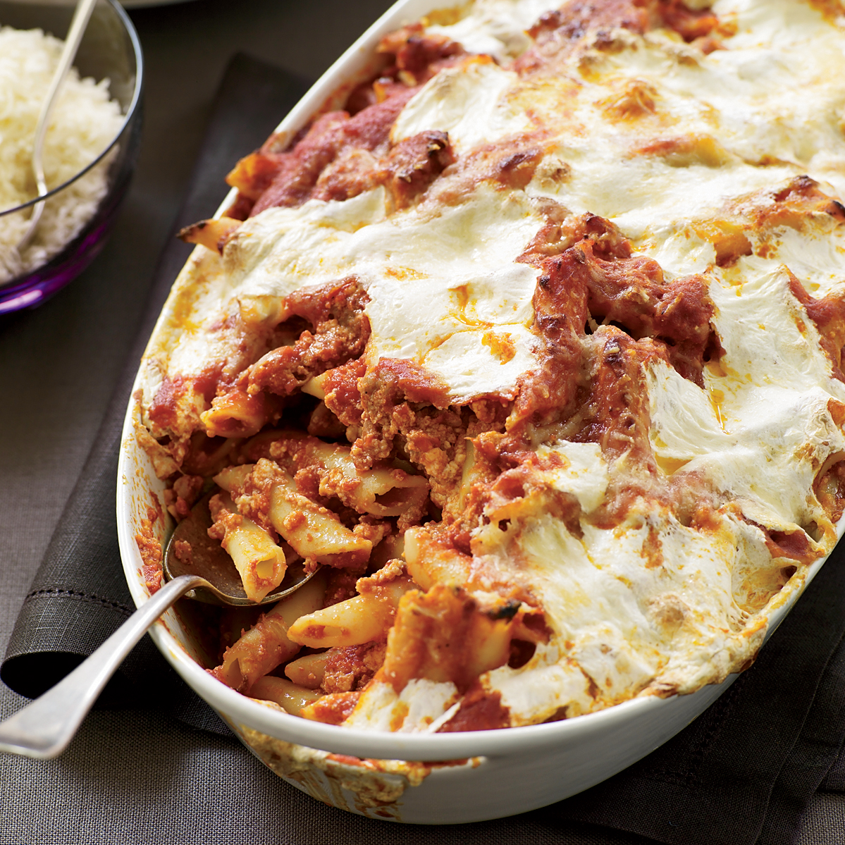 Italian Pasta Bake Recipe: Baked Penne With Sausage And Creamy Ricotta Recipe