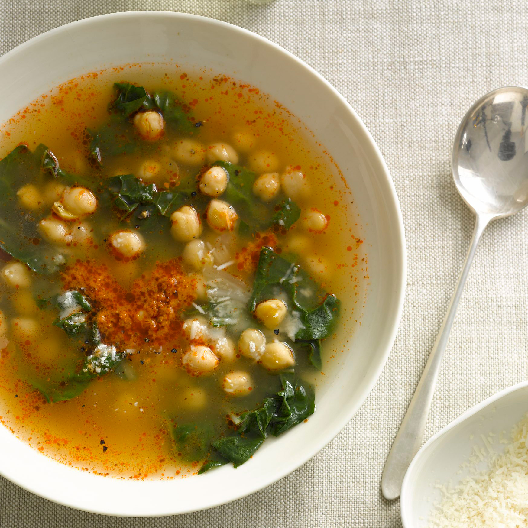 Chickpeas and Swiss Chard in Parmesan and Sun-Dried-Tomato Broth ...