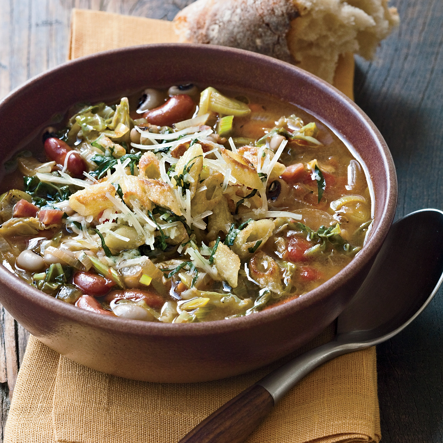 Minestrone with Black-Eyed Peas and Kidney Beans Recipe - Mark Peel ...