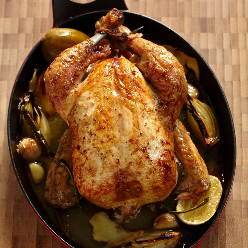 Ginger Roasted Chicken Recipe Grace Parisi Food Amp Wine