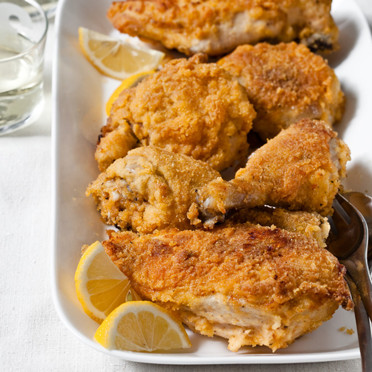 Oven-Fried Chicken with a Polenta Crust Recipe - Grace Parisi | Food ...