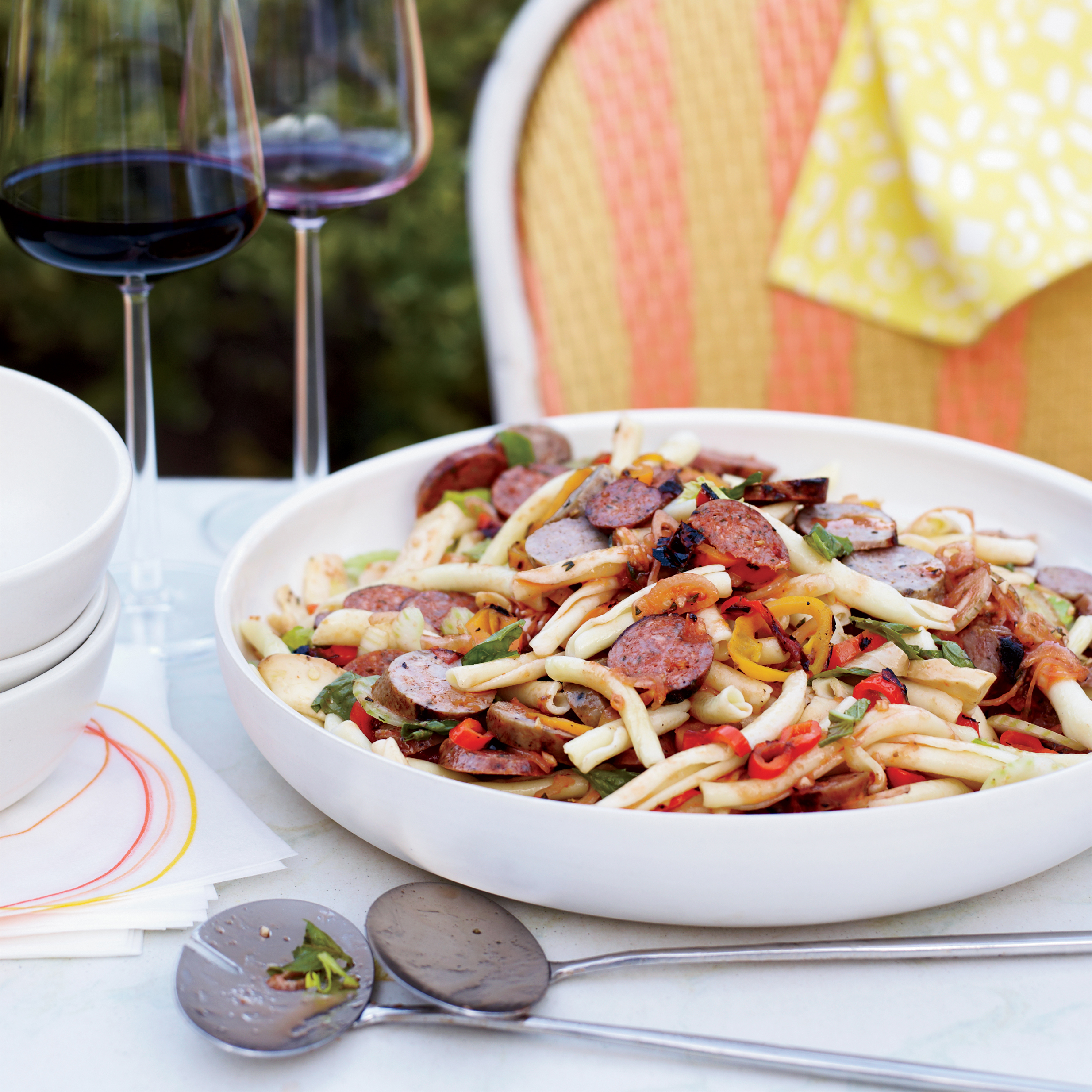 Pasta Salad with Grilled Sausages and Peppers Recipe ...