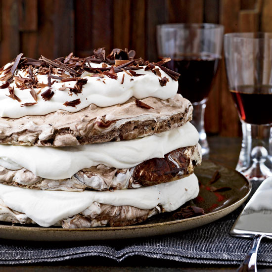 "<p itemprop=""name"">Hazelnut-and-Chocolate Meringue Cake</p>"
