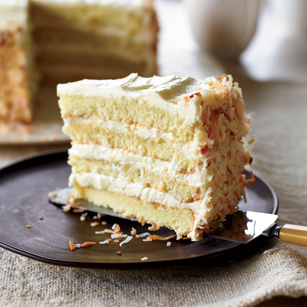 Two Layer Cake Servings