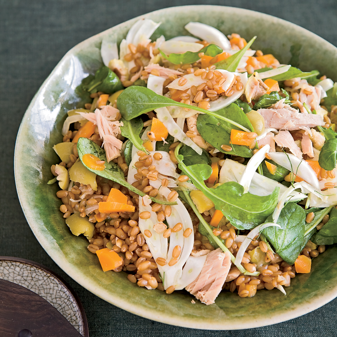 Warm Wheat Berries with Tuna, Fennel and Olives Recipe - Seamus Mullen ...