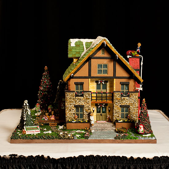 Over-the-Top Gingerbread Houses: First Family Holiday House