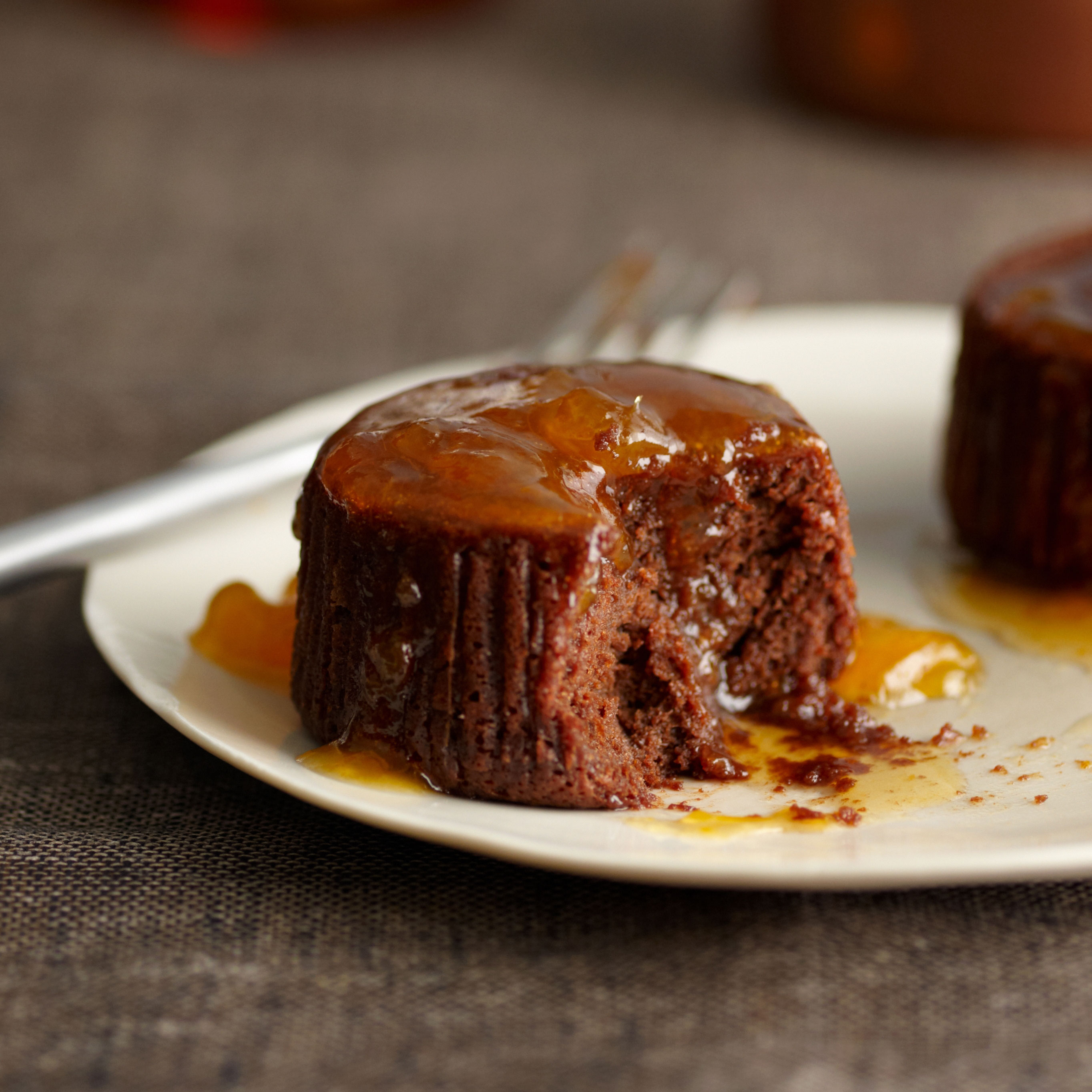 Warm Chocolate Cakes with Apricot-Cognac Sauce Recipe - Jacques Pépin ...