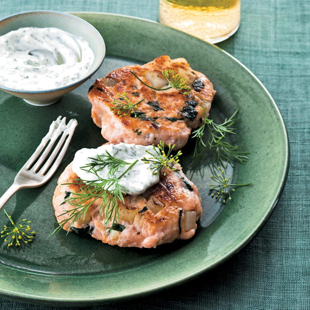 Salmon Cakes: Salmon-and-Spinach Cakes Recipe - Marcia Kiesel