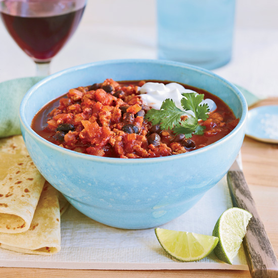 Black-Bean Turkey Chili