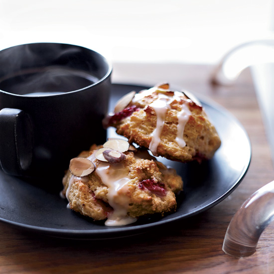 Day 21: Strawberry-Almond Scones
