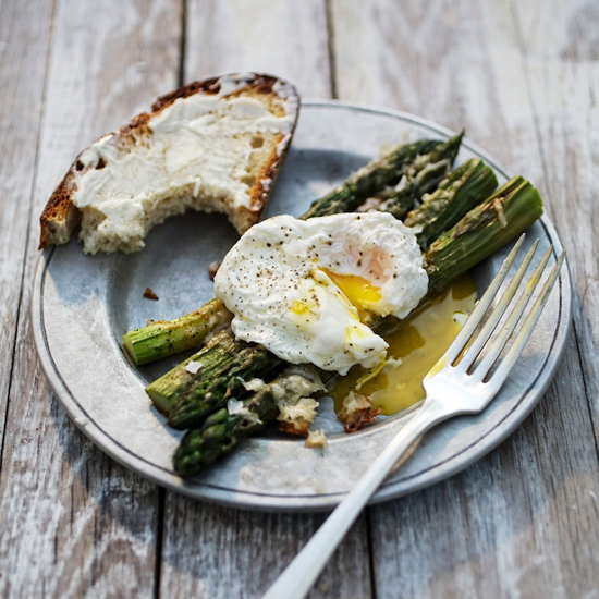 Parmesan Asparagus With Poached Eggs Recipe Gwyneth Paltrow Food Amp Wine