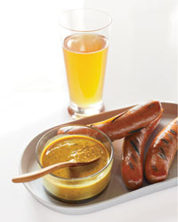 Oval platter and beer glass from Dandelion