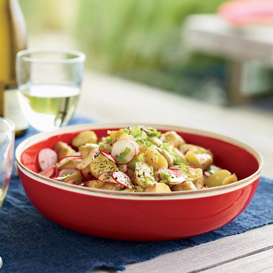 Baby Potato Salad with Radishes and Celery