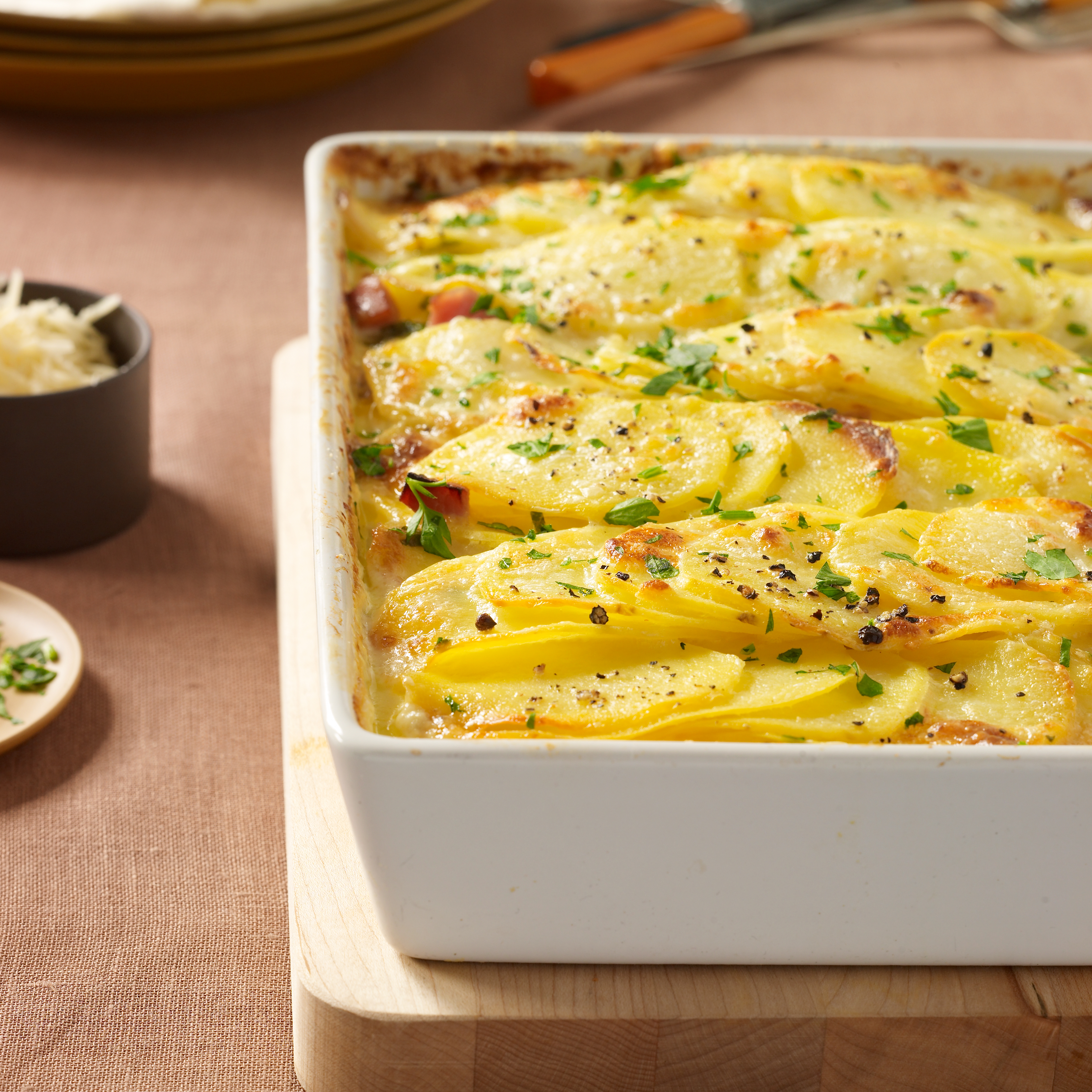Scalloped Potatoes With Ham Recipe - Justin Chapple
