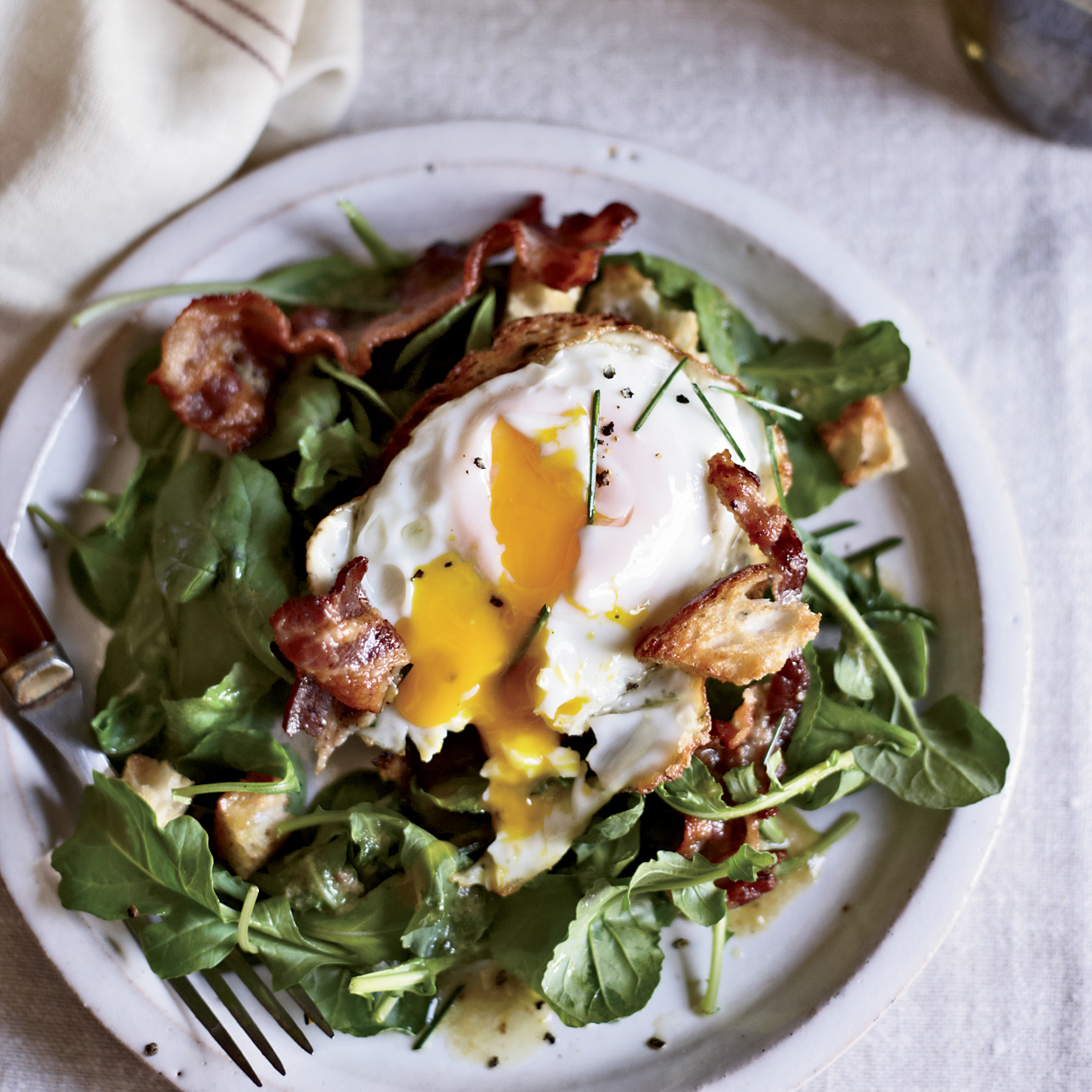 Warm Bacon-and-Egg Salad RecipeApril Bloomfield Food  Wine
