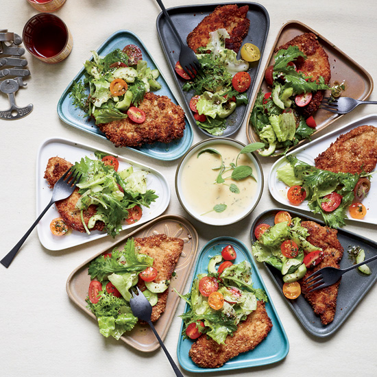 Chicken Milanese with Sage-and-Lemon-Butter Sauce