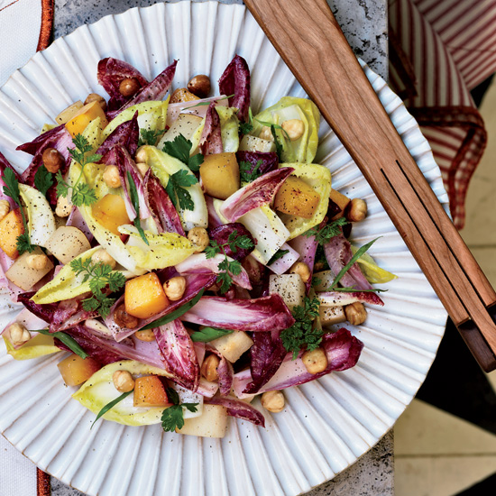 Endive Salad with Persimmons and Hazelnuts