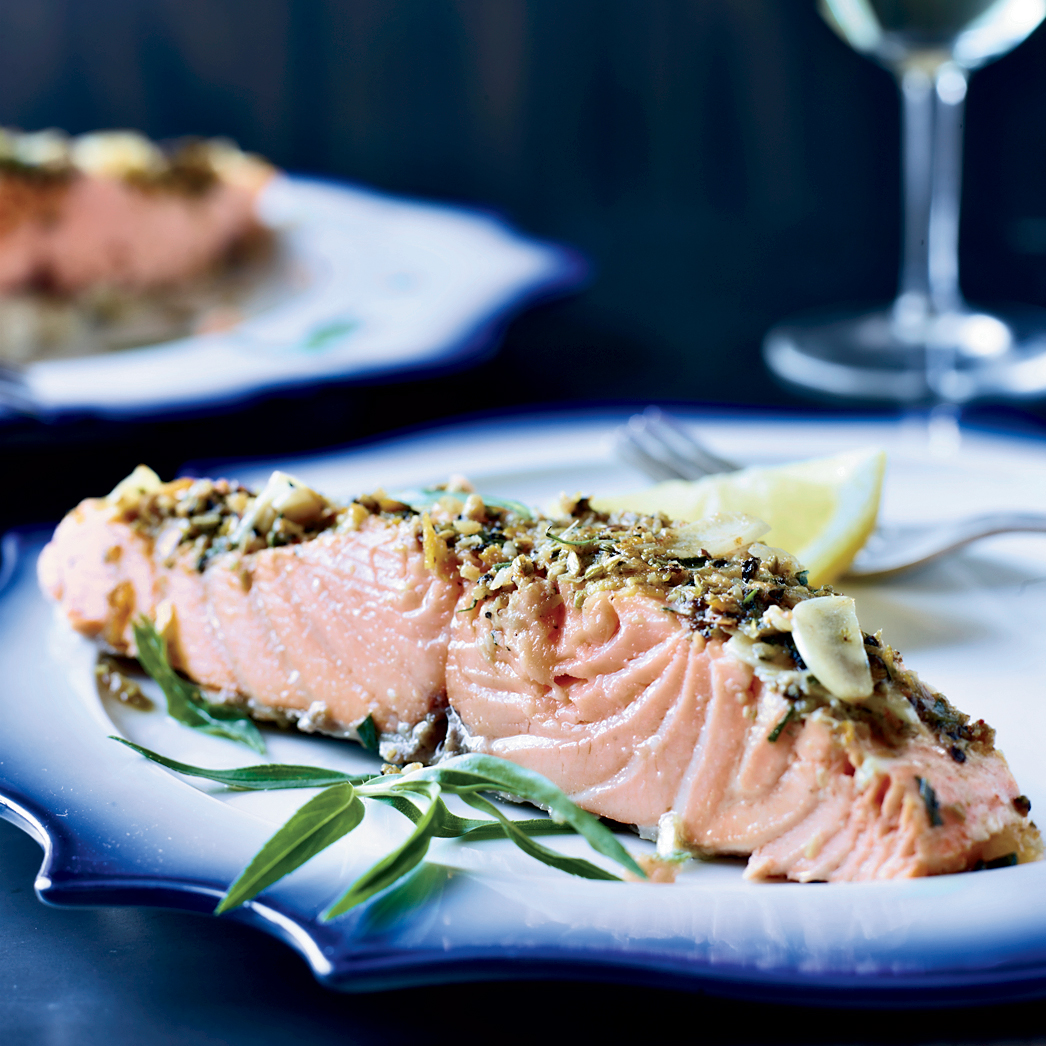 Slow-Roasted Salmon with Tarragon and Citrus Recipe ...
